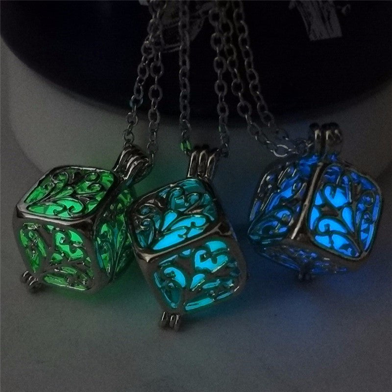 glowing cube necklaces