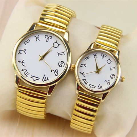 Gold / Silver Zodiac Wrist Watch
