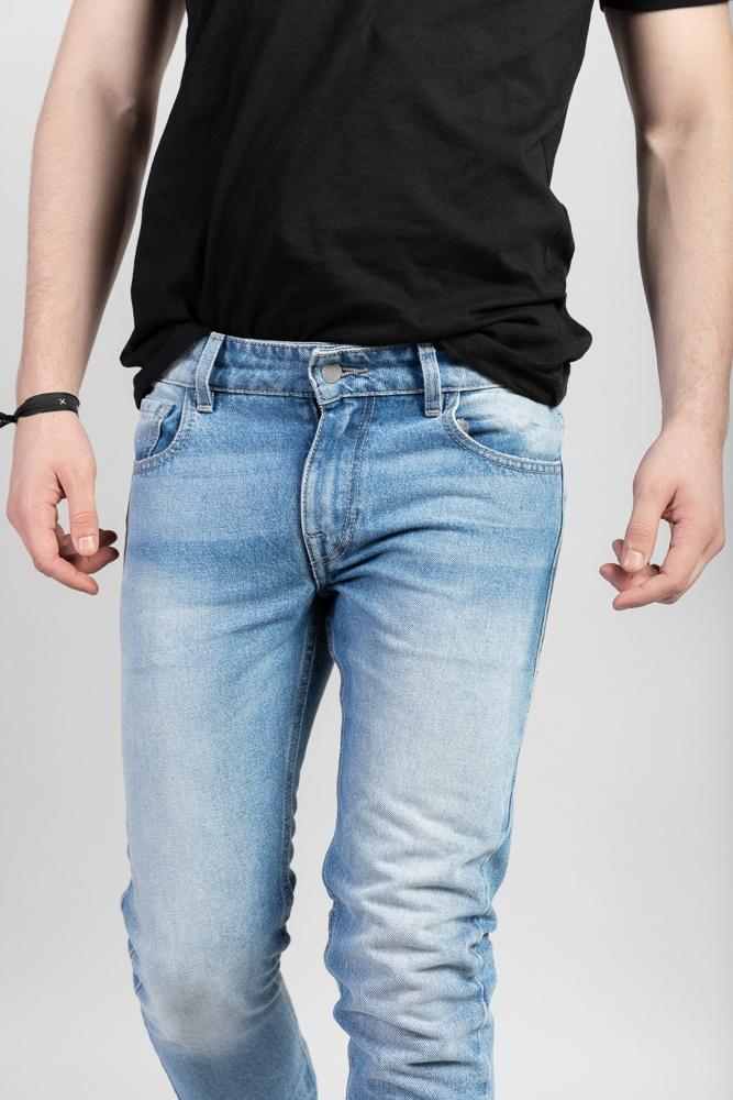 Acapella Ropa Men Denim Skinny Light Vintage