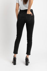 Acapella Ropa Women Denim The Slit Skinny Dark Charcoal