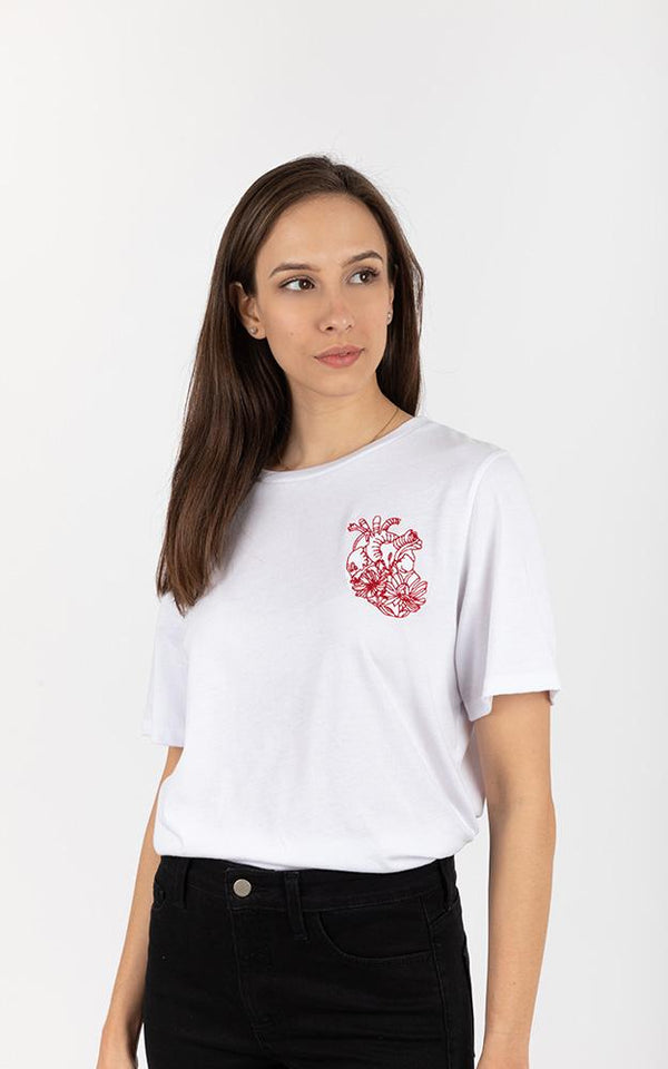Acapella Ropa Women Graphics Flower Heart