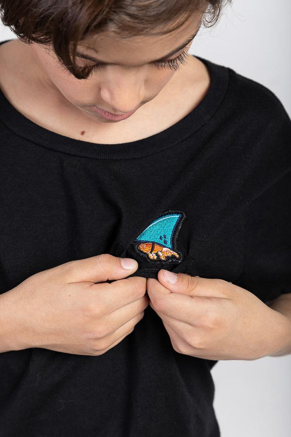 Acapella Ropa Youth Graphics Shark Patch