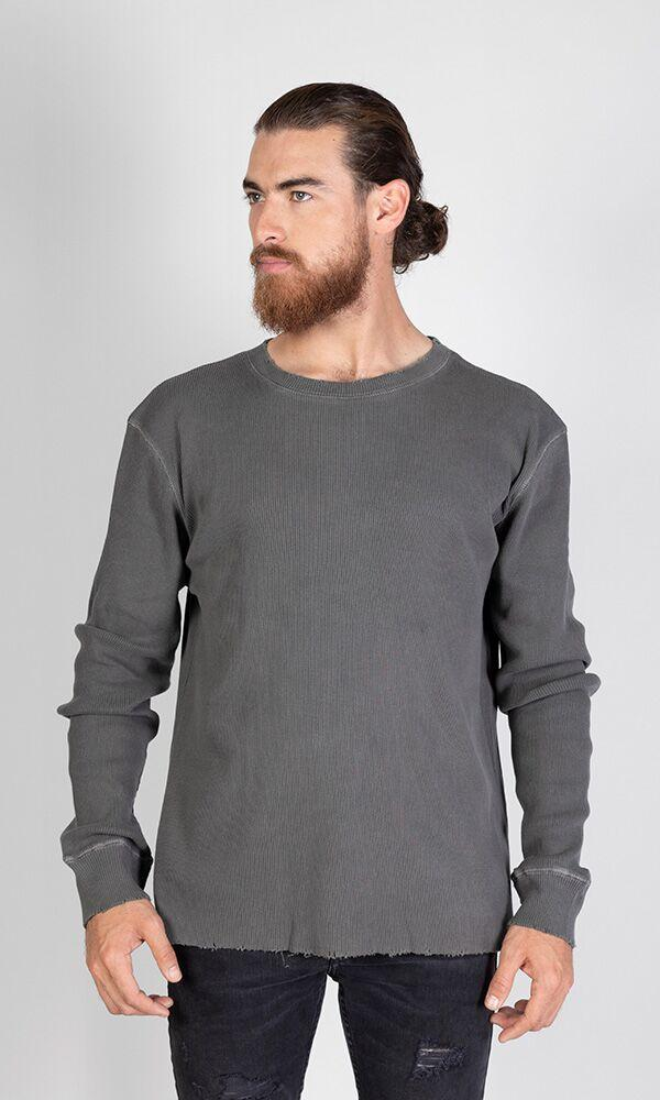 ACAPELLA Heavyweight Ls Ribbed Shirt Black