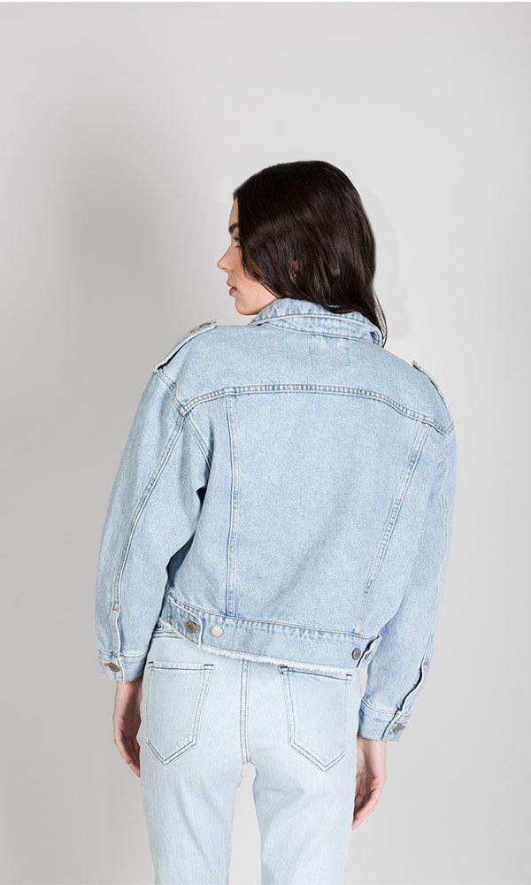 The Denim Cropped Jacket
