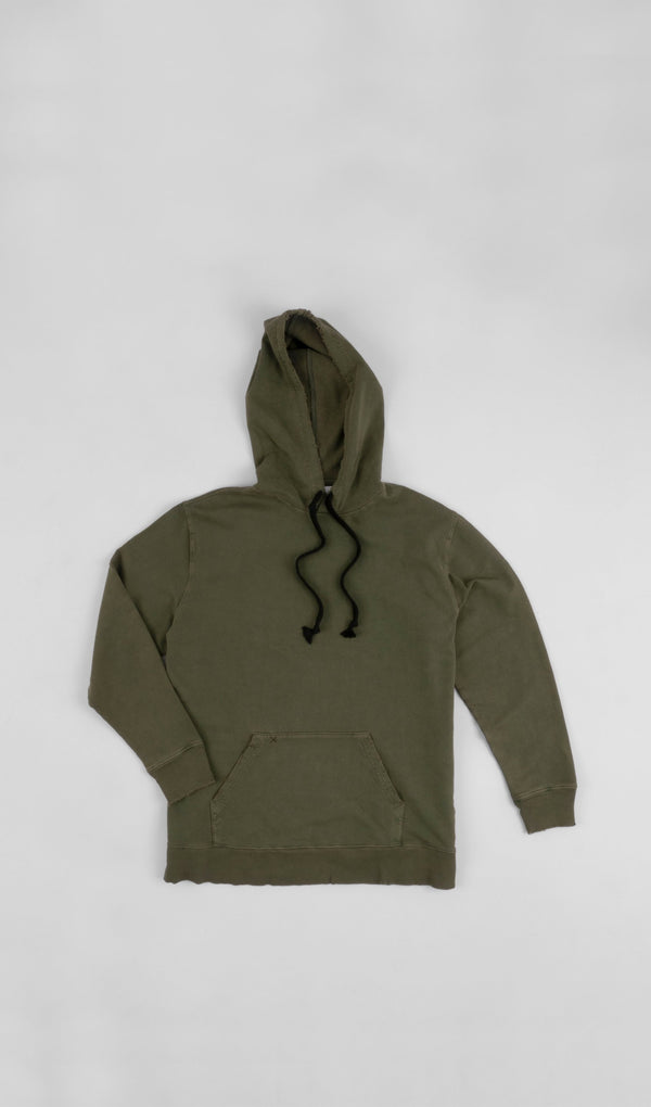 Acapella Ropa Men Hoodie Men Washed Sweatshirt Olive