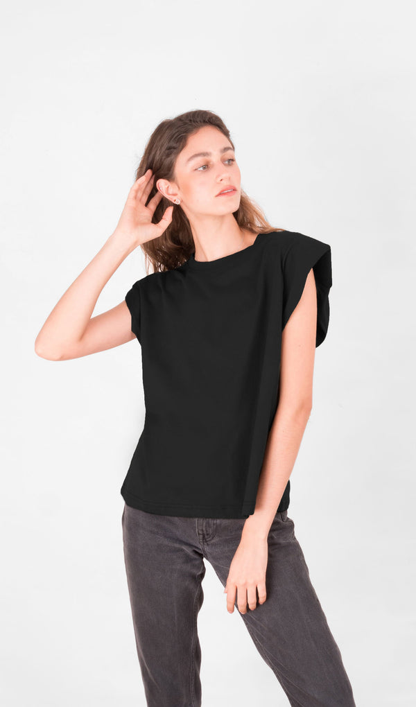 Acapella Ropa Women Basics Basic Women Tee - Black