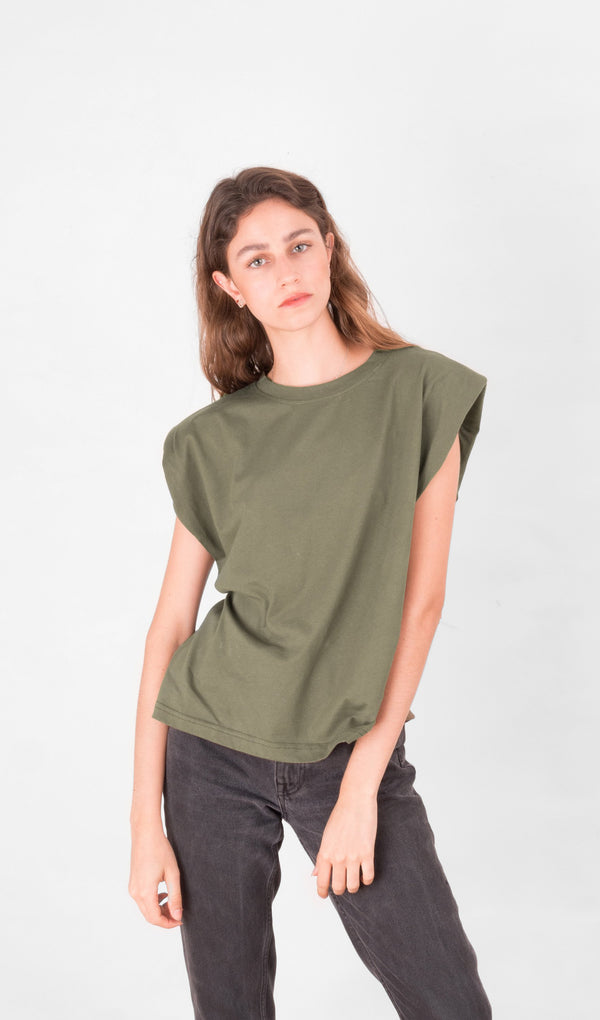 Acapella Ropa Women Basics Basic Women Tee - Military Green