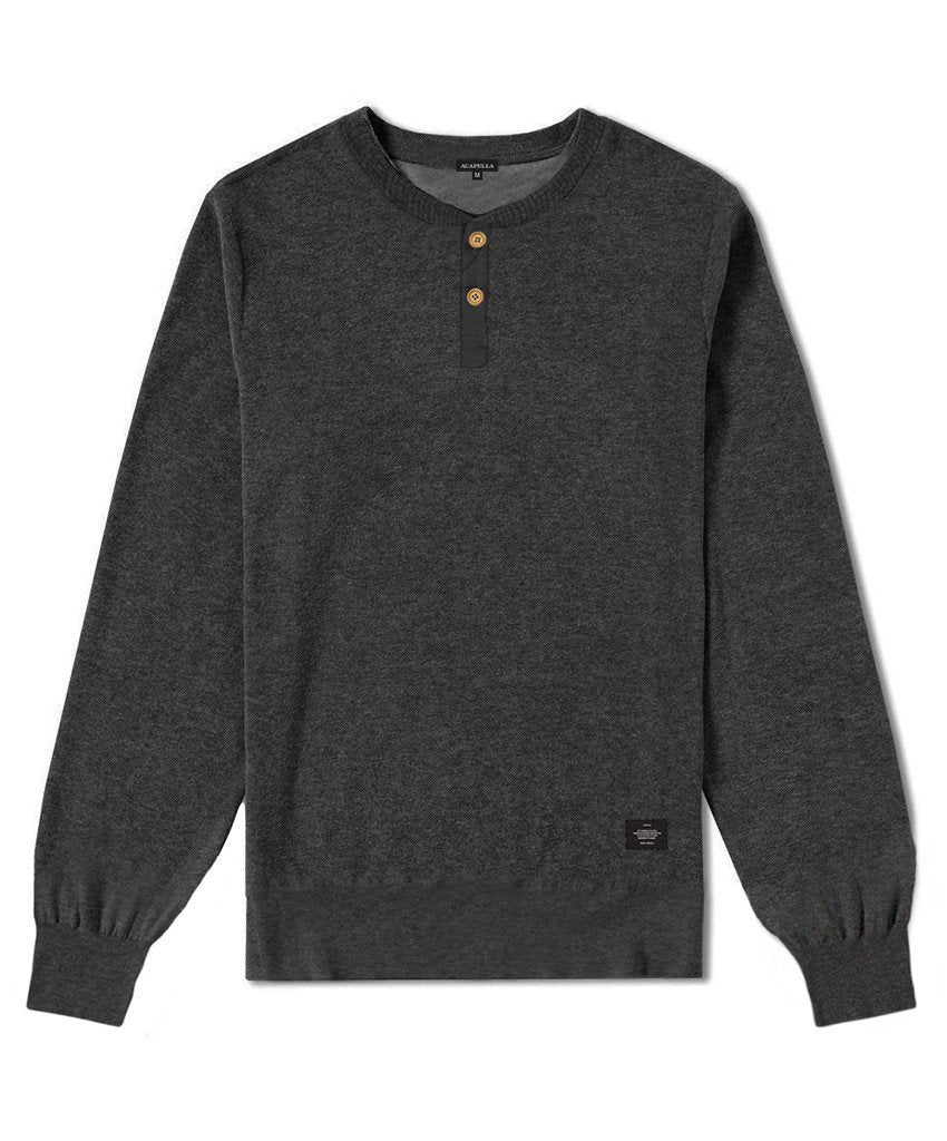 Not specified Heavyweight Oxford Henley Sweatshirt