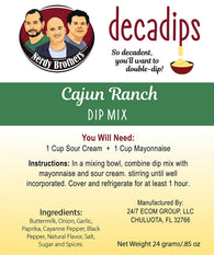 Nerdy Brothers Decadips Cajun Ranch Dip Mix