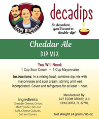 Nerdy Brothers Decadips Cheddar Ale Dip Mix