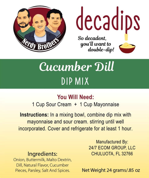 Nerdy Brothers Decadips Cucumber Dill Dip Mix