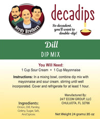 Nerdy Brothers Decadips Dill Dip Mix