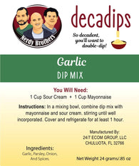 Nerdy Brothers Decadips Garlic Dip Mix