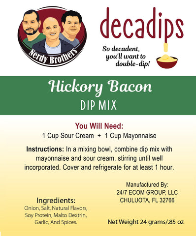 Nerdy Brothers Decadips Hickory Bacon Dip Mix