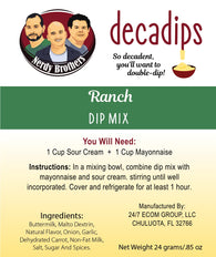 Nerdy Brothers Decadips Ranch Dip Mix