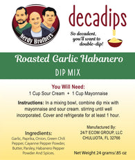 Nerdy Brothers Decadips Roasted Garlic Habanero Dip Mix