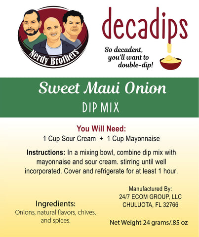 Nerdy Brothers Decadips Sweet Maui Onion Dip Mix
