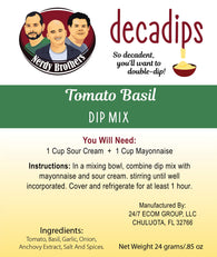 Nerdy Brothers Decadips Tomato Basil Dip Mix