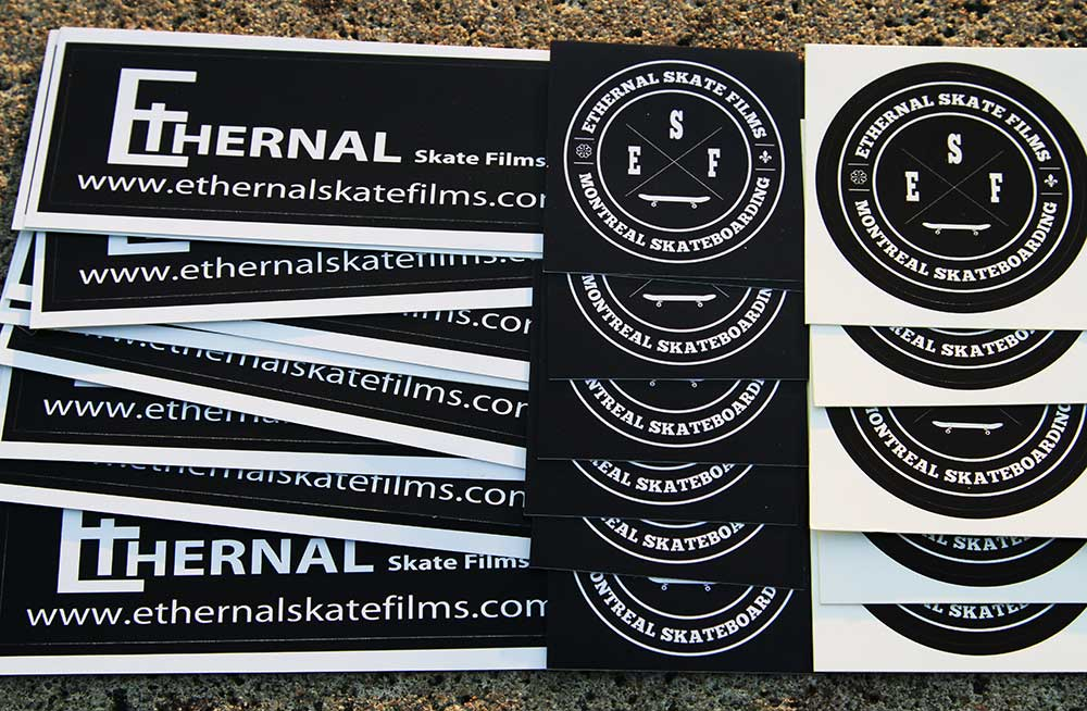 Free Stickers Montreal Skateboarding Films