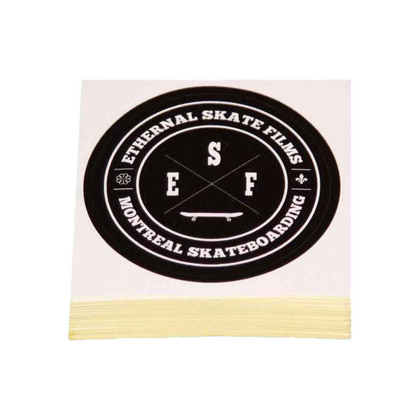 Sticker Vinyle Ethernal Skate Films Montreal Skateboarding