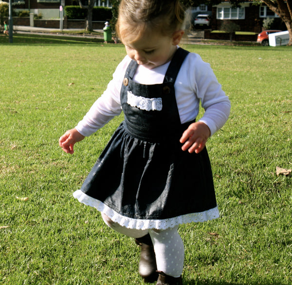 Vintage Rogue Smock with Crochet Detailing - Baby and Toddler Size