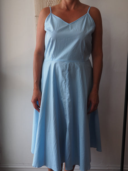 Adaline A Line Talita Dress In Sky Blue - Ladies