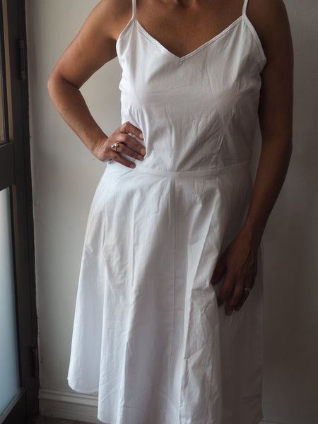 Adaline A Line Talita Dress In Natural White - Ladies