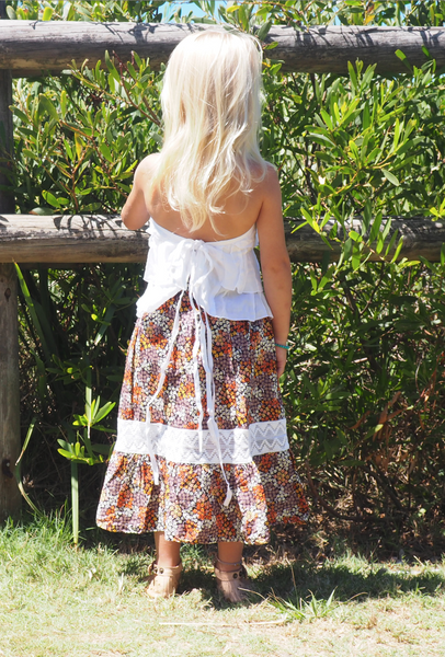 AUBREE MAXI SKIRT W/ CROCHET DETAIL- KIDS