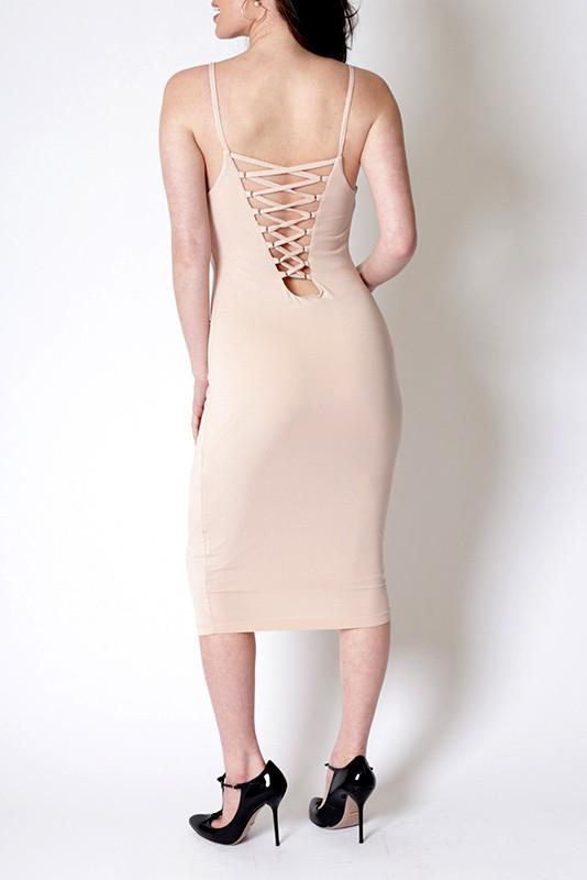 'Bella' Criss Cross Back Midi Dress