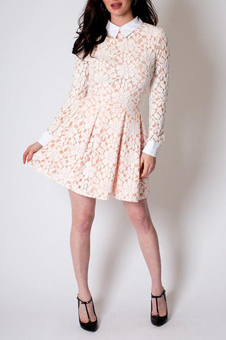 'Tea Time' High Collared Long Sleeved Dress