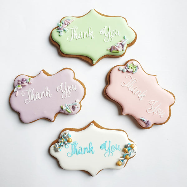 Thank You Plaque Cookies