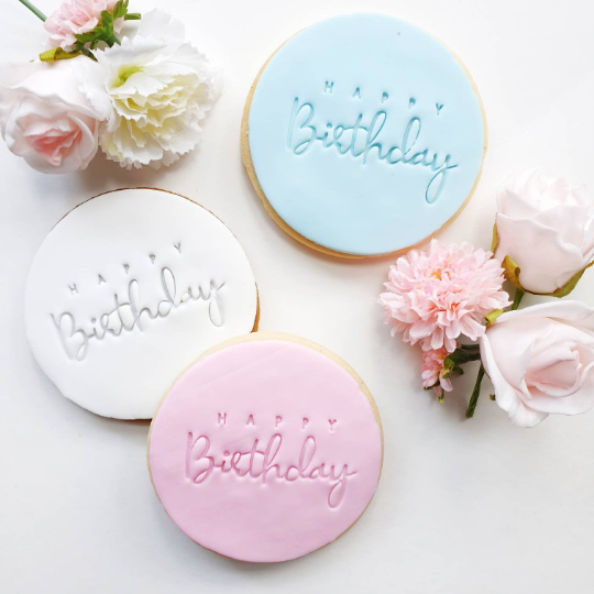Italic Happy Bday Cookies