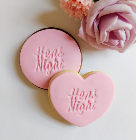 Hens Night Italic Cookies