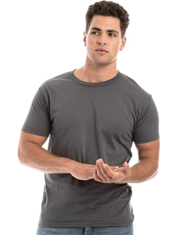 GRAY - 100% Ringspun Cotton Short Sleeve T-Shirt by RSKE