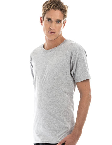 ASH HEATHER - 100% Ringspun Cotton Short Sleeve T-Shirt by RSKE