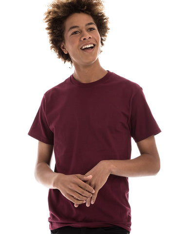 MAROON - 100% Ringspun Cotton Short Sleeve T-Shirt by RSKE