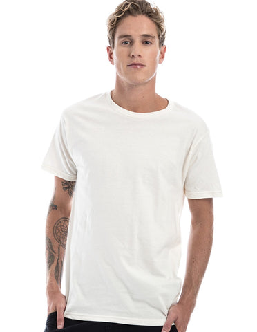 NATURAL WHITE - 100% Ringspun Cotton Short Sleeve T-Shirt by RSKE