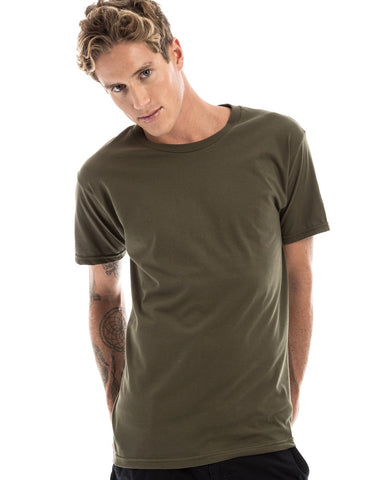 OLIVE - 100% Ringspun Cotton Short Sleeve T-Shirt by RSKE
