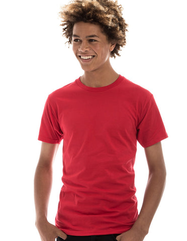 RED - 100% Ringspun Cotton Short Sleeve T-Shirt by RSKE