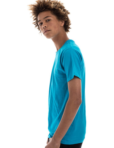 TURQUOISE - 100% Ringspun Cotton Short Sleeve T-Shirt by RSKE
