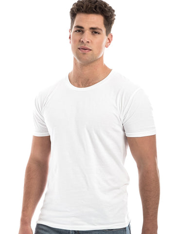 WHITE - 100% Ringspun Cotton Short Sleeve T-Shirt by RSKE