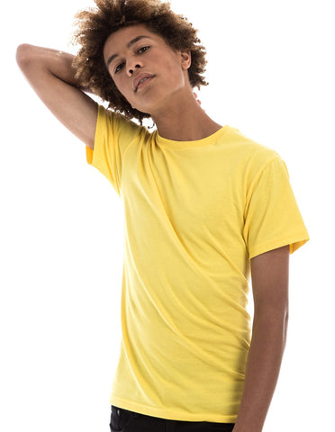 YELLOW - 100% Ringspun Cotton Short Sleeve T-Shirt by RSKE