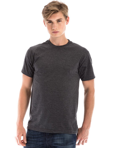 RSKE® 52/48 Cotton Poly Blend Short Sleeve T-Shirt, Charcoal Heather