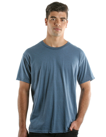 RSKE 52/48 Cotton Poly Blend Short Sleeve T-Shirt, Indigo Black Heather