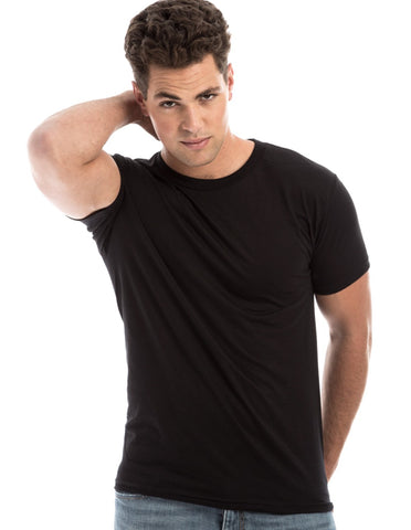 RSKE 52/48 Cotton Poly Blend Short Sleeve T-Shirt, Jet Black