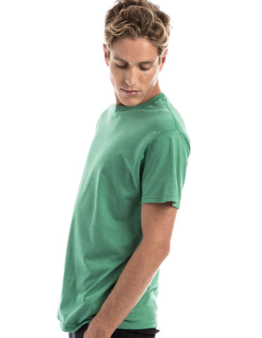 RSKE 52/48 Cotton Poly Blend Short Sleeve T-Shirt, Kelly Heather