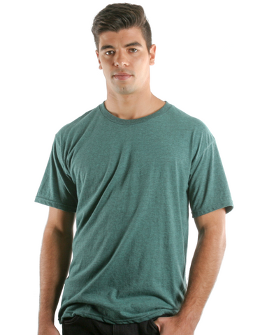 RSKE 52/48 Cotton Poly Blend Short Sleeve T-Shirt, Mint Black Heather