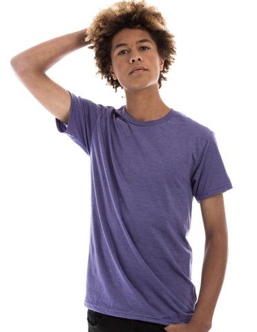 RSKE 52/48 Cotton Poly Blend Short Sleeve T-Shirt, Purple Heather
