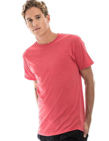 RSKE 52/48 Cotton Poly Blend Short Sleeve T-Shirt, Red Heather
