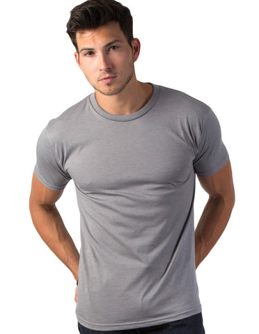 RSKE 52/48 Cotton Poly Blend Short Sleeve T-Shirt, Slate Heather